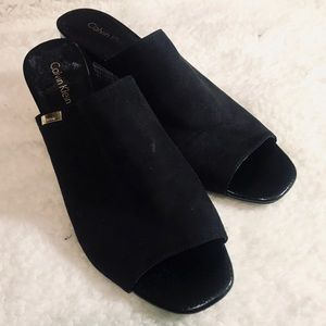Calvin Klein heels clogs mules size 7.5